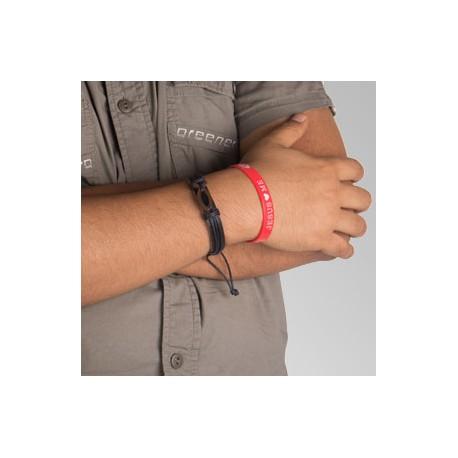 Bracelet ichtus noire et rouge